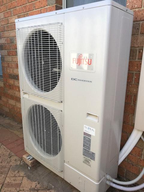 Fujitsu outdoor inverter installation