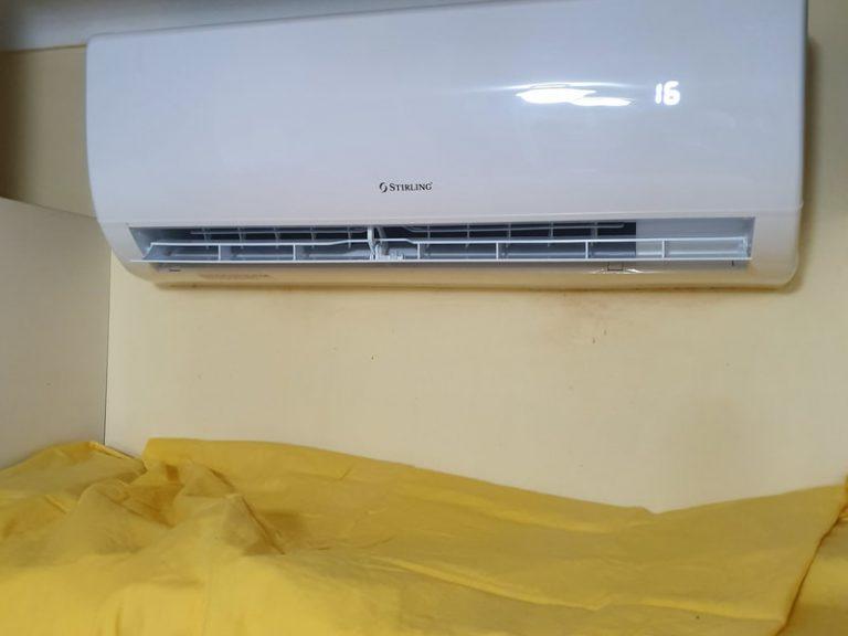 Installation of Striling split system air conditioner