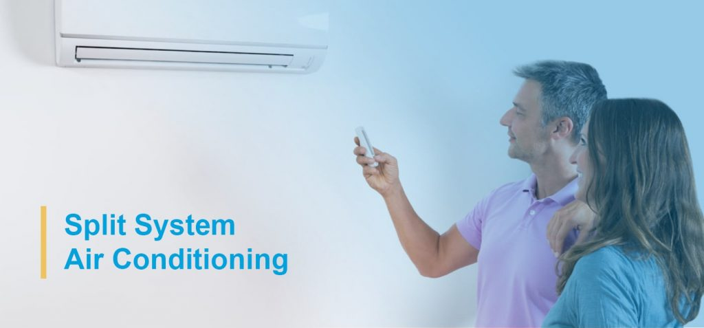 Split system compared to ducted aircons